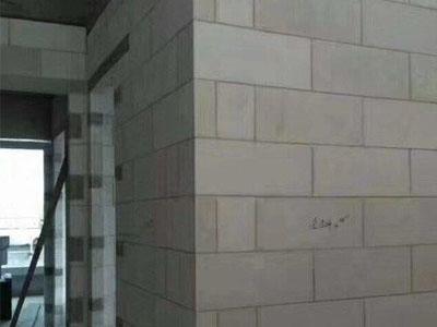 加气砖隔断墙施工
